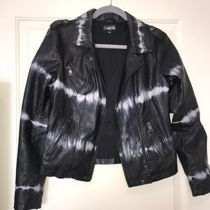 B&W marble leather jacket. Never worn
